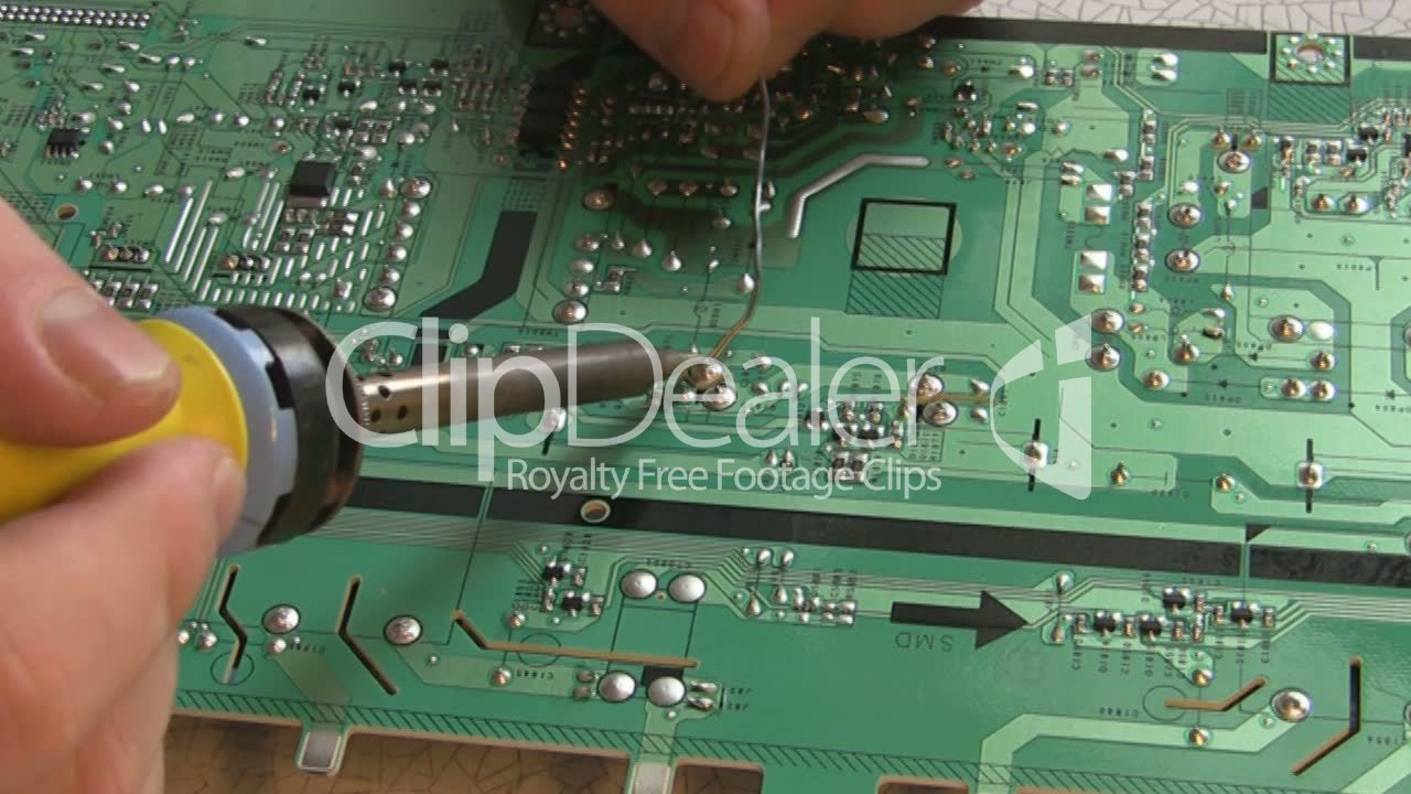 Repair Circuit Board: Royalty-free Video And Stock Footage