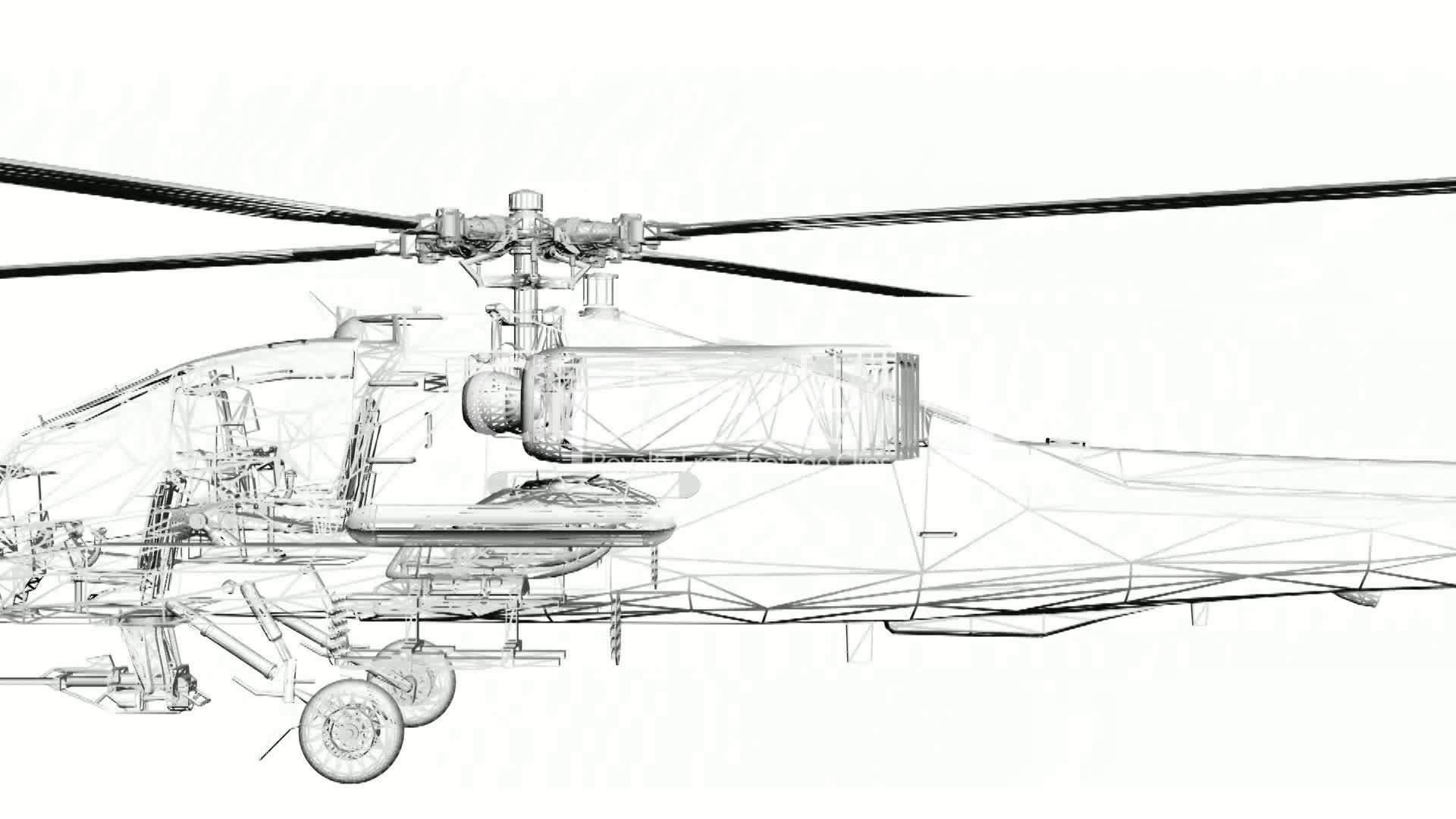 Moving of 3D Helicopter.rotor,transport,flight,fly,air