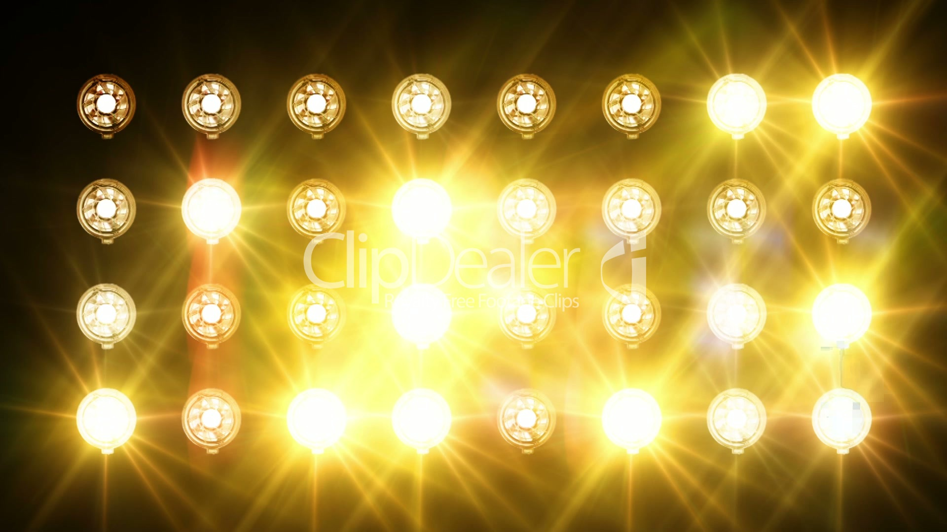 Bright lights flicker Royaltyfree video and stock footage