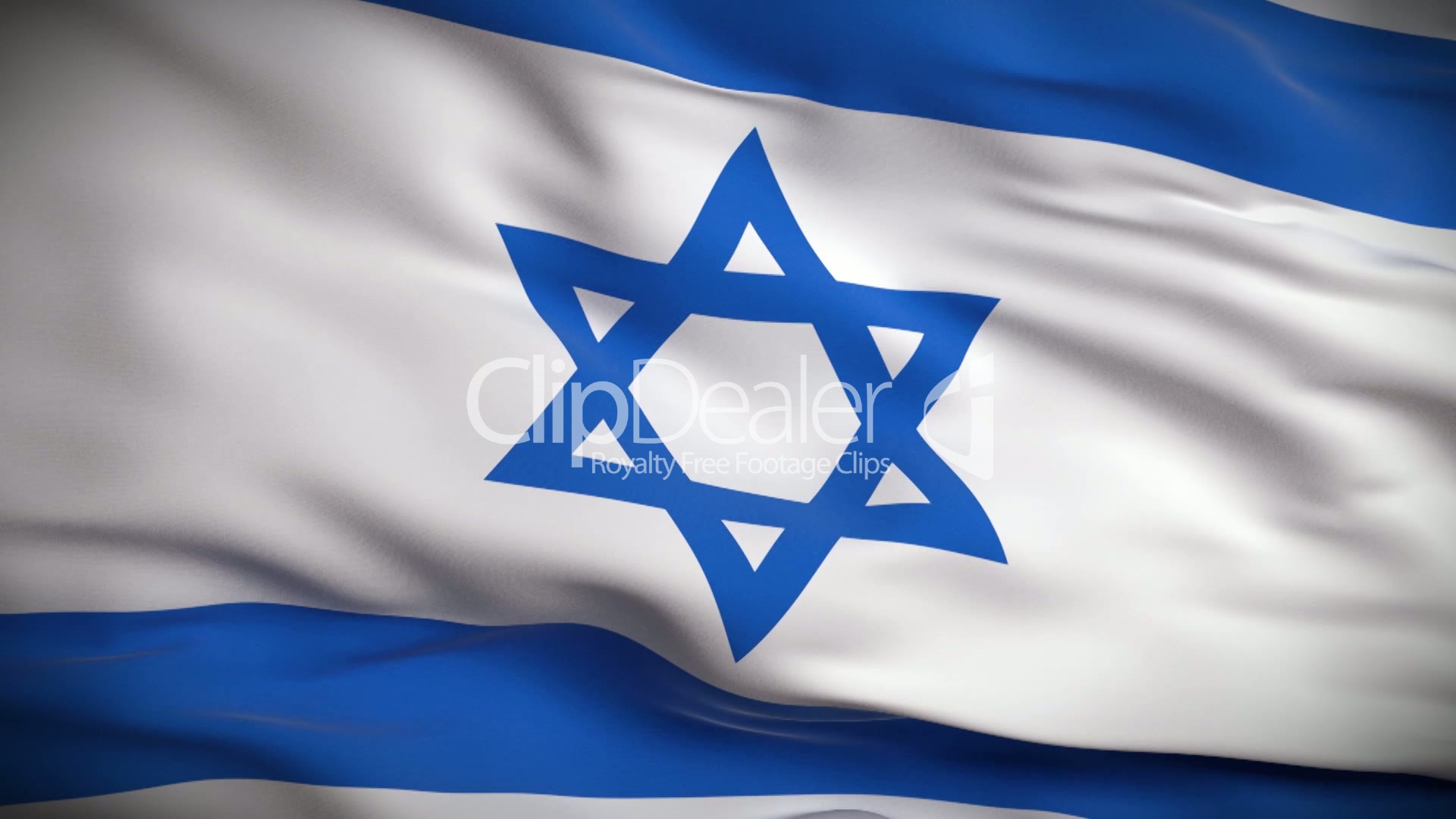 Israeli Flag HD Looped Royaltyfree video and stock footage