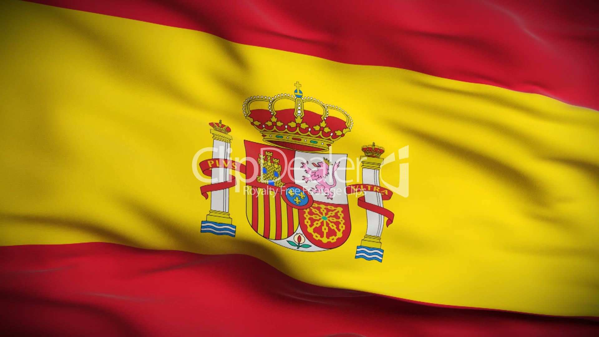 Spanish Flag HD Looped Royaltyfree video and stock footage