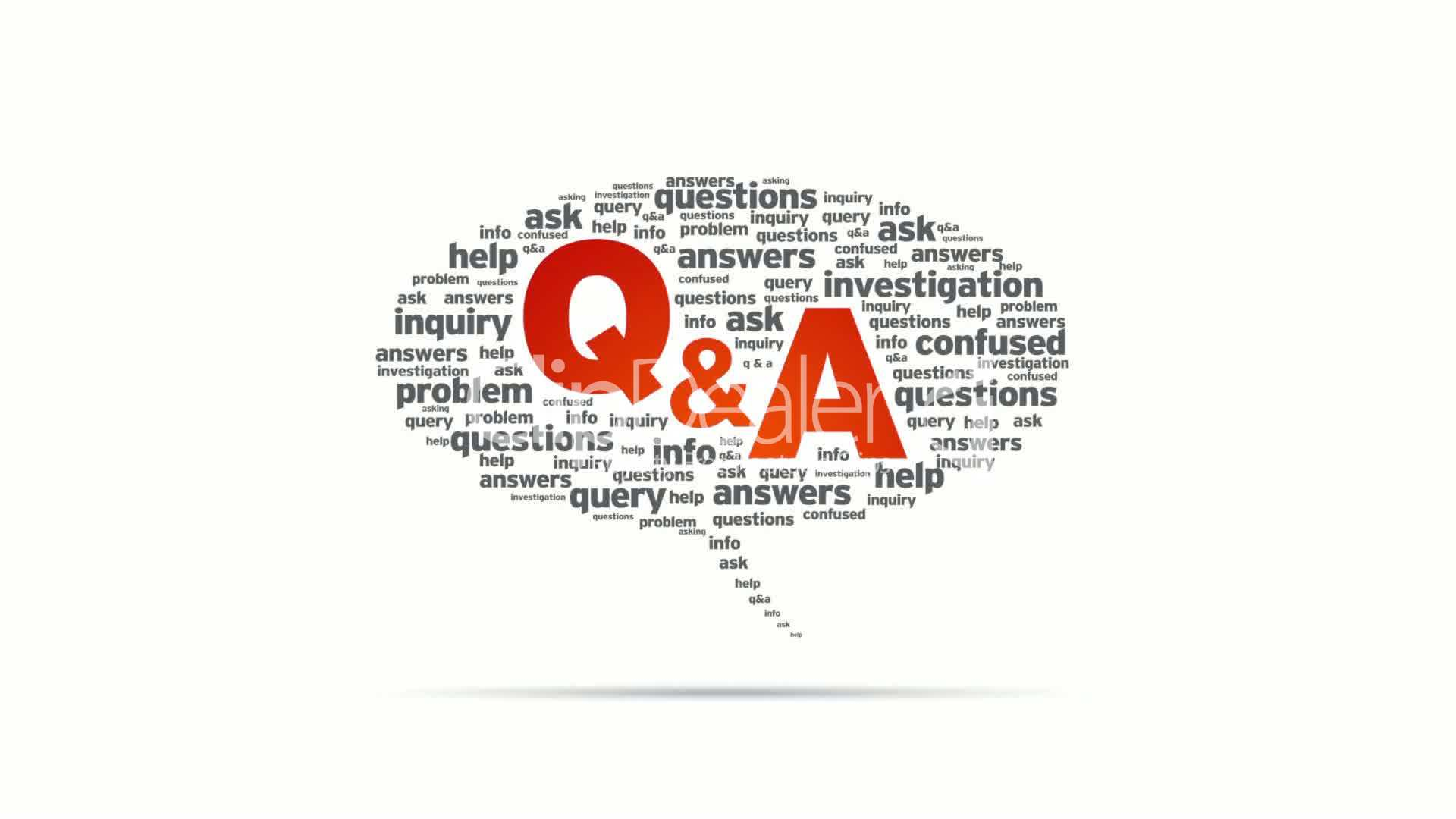 Questions And Answers Speech Bubble: Royalty-free video