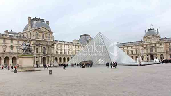 Musee Du Louvre. Paris France. Royalty-free Video And Stock Footage