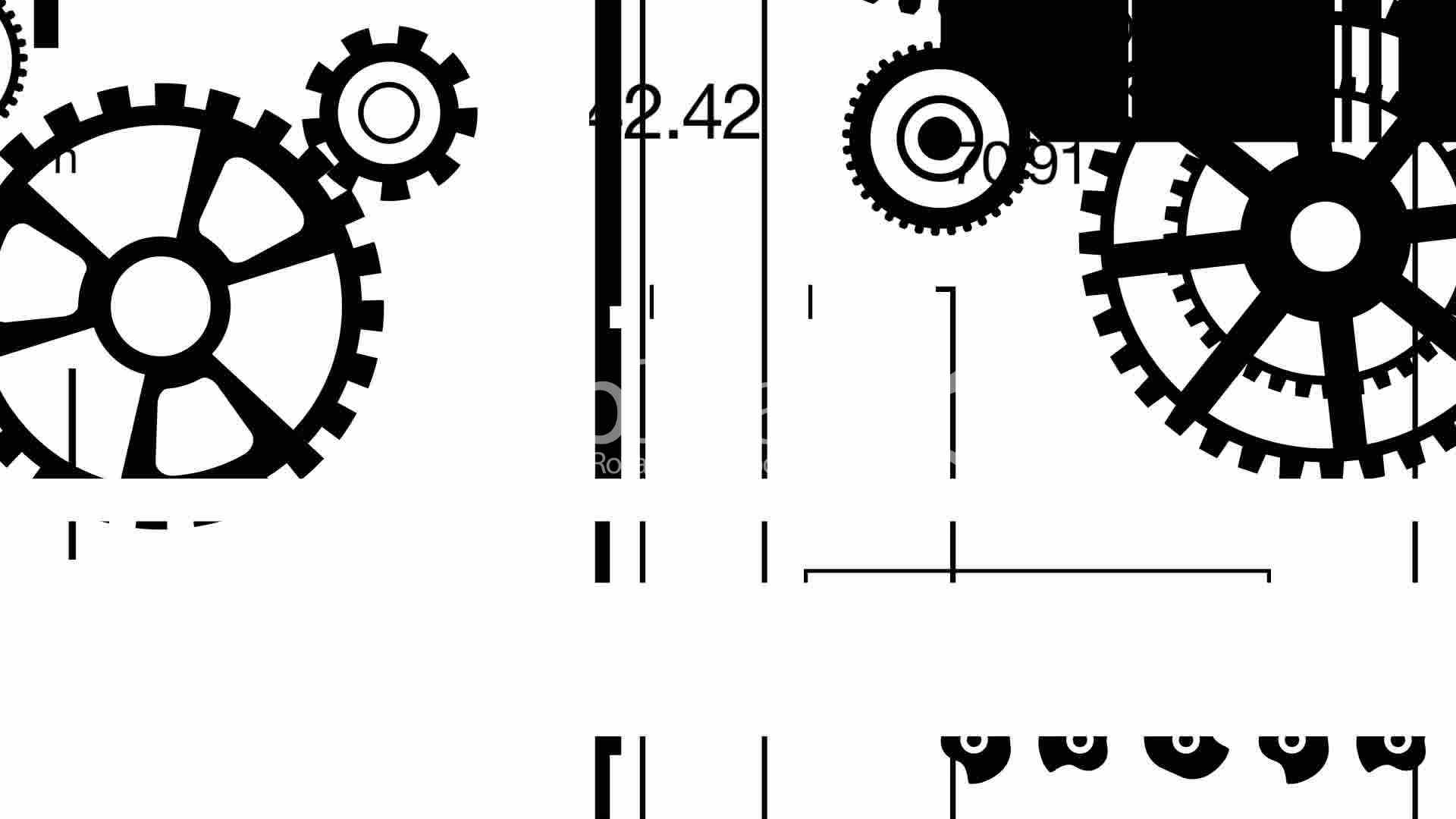 Mechanical Graphics Mono Loop Hd Royalty Free Video And