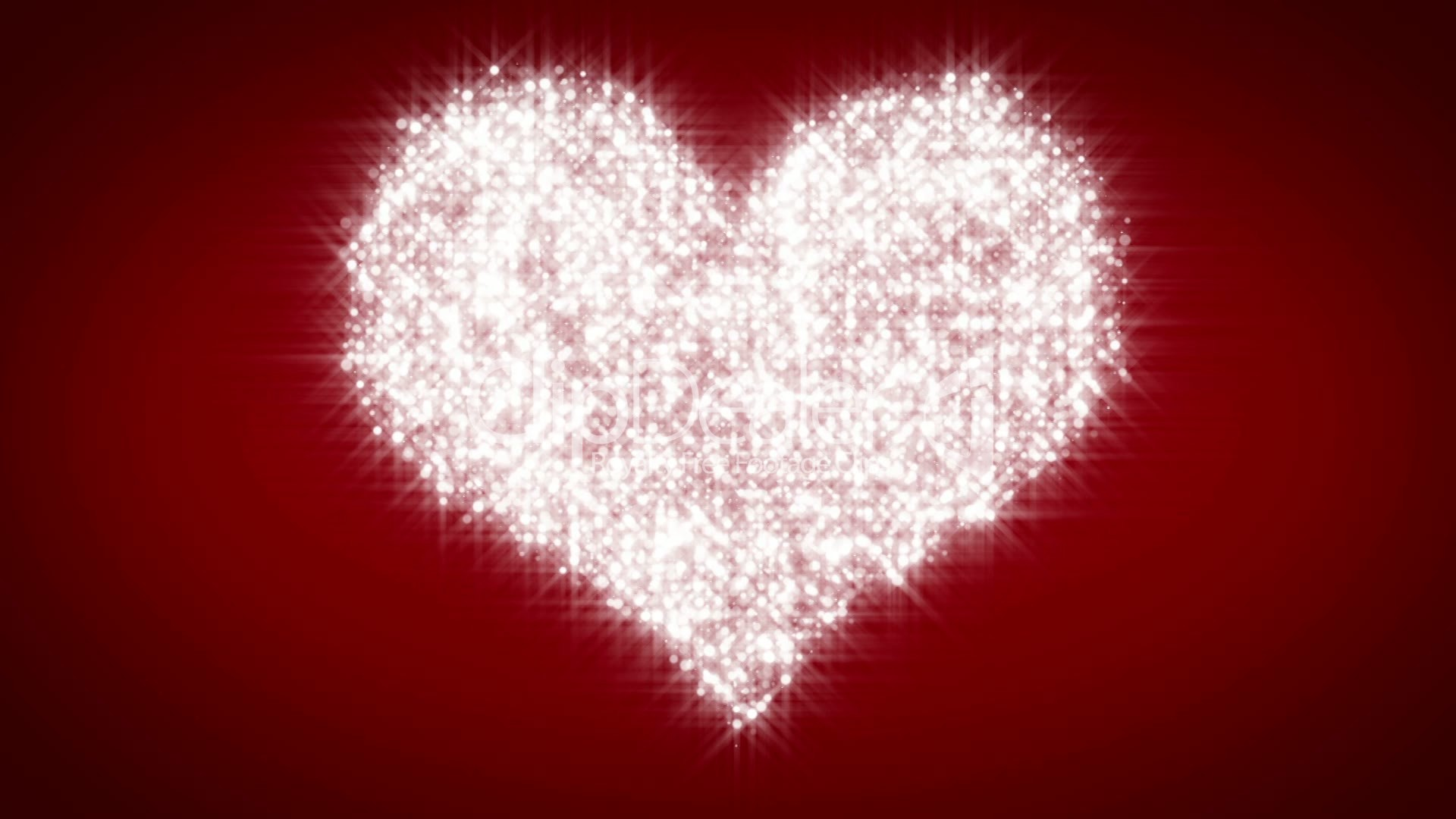 Cute Sparkly Pink Wallpapers White Heart Beating On Red Background Loop Royalty Free