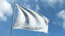 White Flag - Waving Over Time Laps Sky Royalty-free Video
