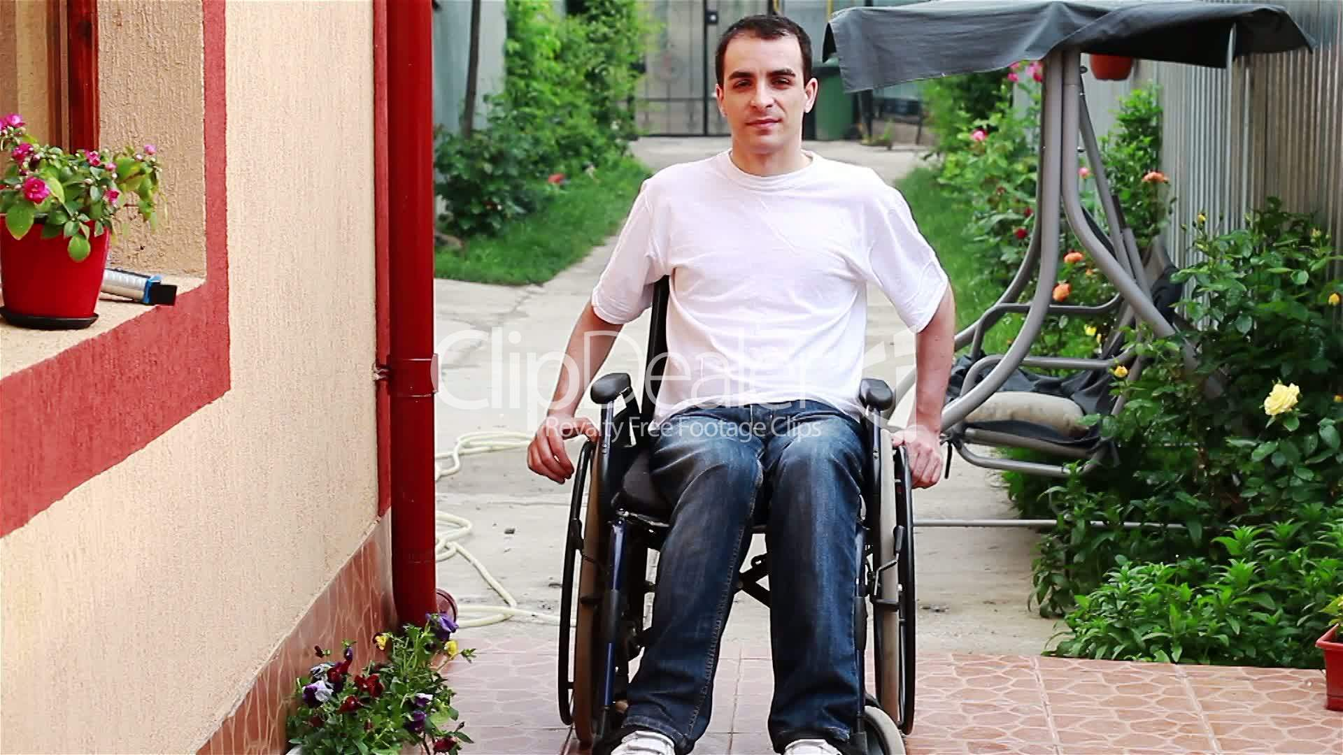 wheelchair man pod hanging chair young on royalty free video and stock footage