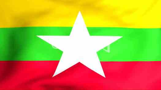 Flag Of Myanmar: Royalty-free video and stock footage