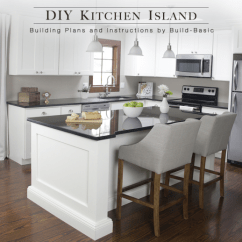 Planning A Kitchen Island Metal Sink Cabinet Unit Build Diy Basic Building Plans By Buildbasic Www