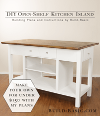 Build a DIY Open-Shelf Kitchen Island  Build Basic