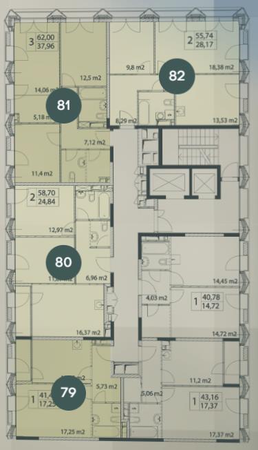 план этажа 2 подъезд 1 корпус жк виталити