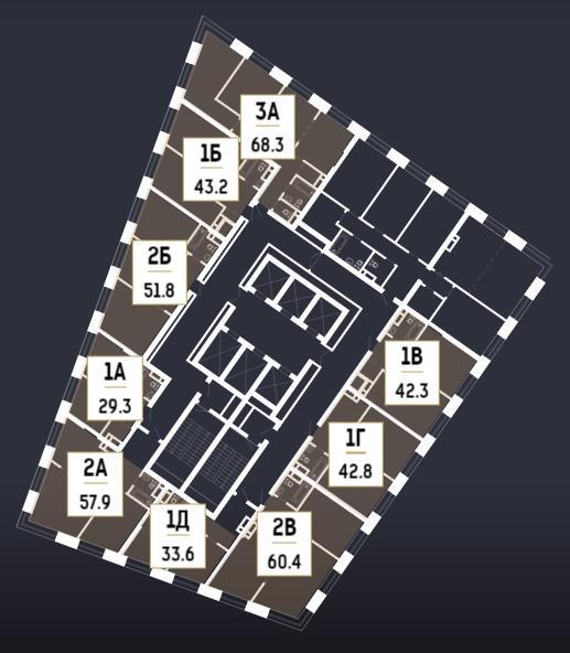 план 48 этажа в корпусе 3