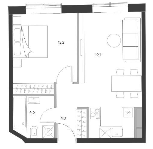 апартаменты с одной спальней