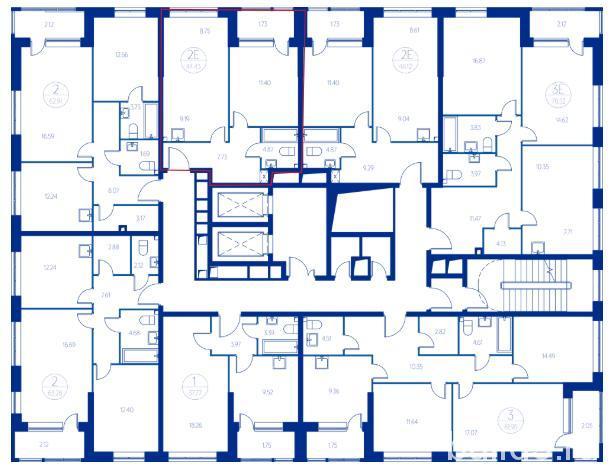 ЖК Квартал на набережной Now план этажа