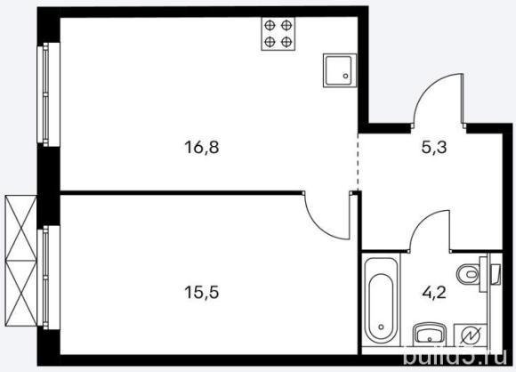 ЖК Holland Park план 1 комнатной