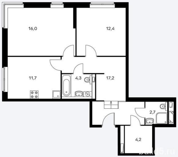 ЖК Holland Park план 2 комнатной