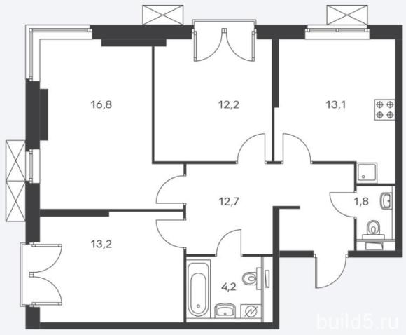 ЖК Holland Park план 3 комнатной