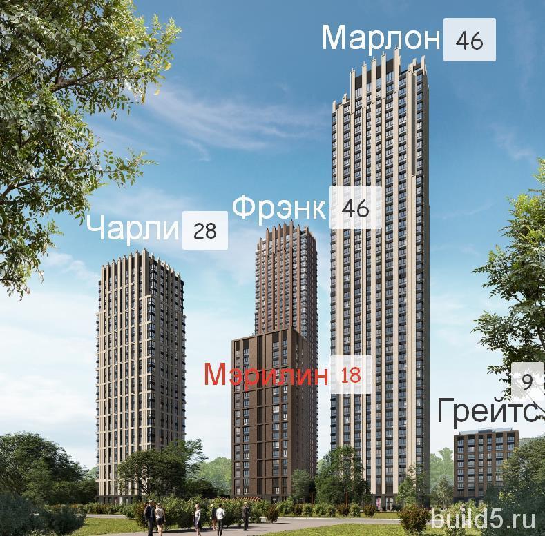 ЖК Павелецкая Сити корпуса