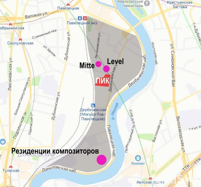 ЖК Дербеневская 20 что рядом