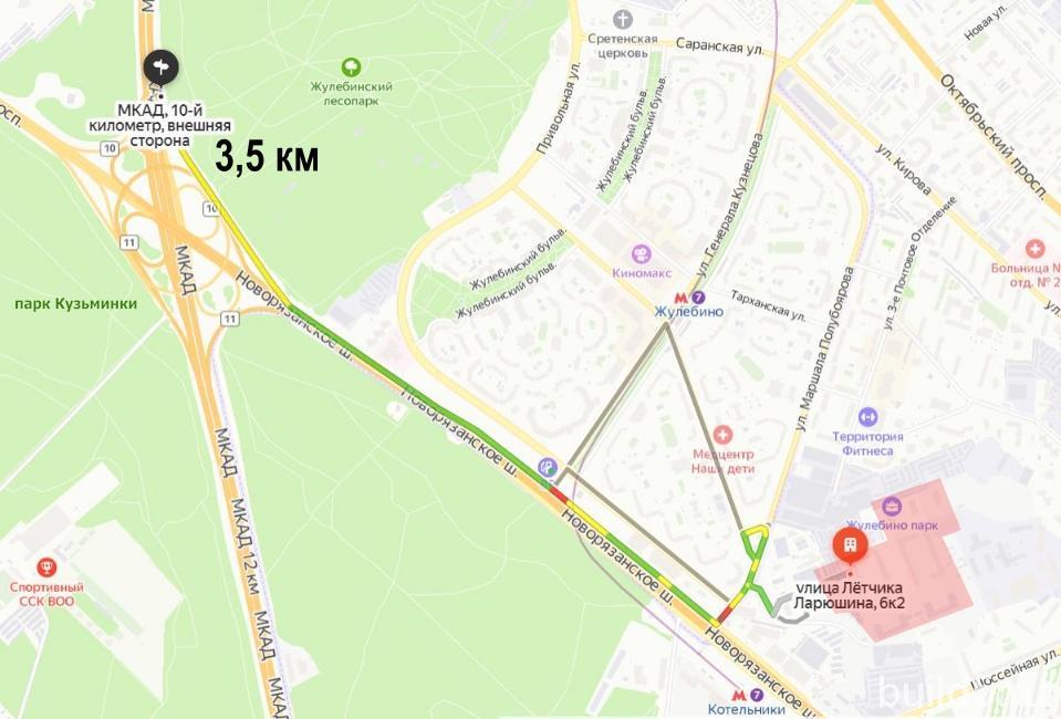 жк жулебино парк на карте