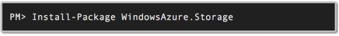 Windows Azure Storage Nuget Package