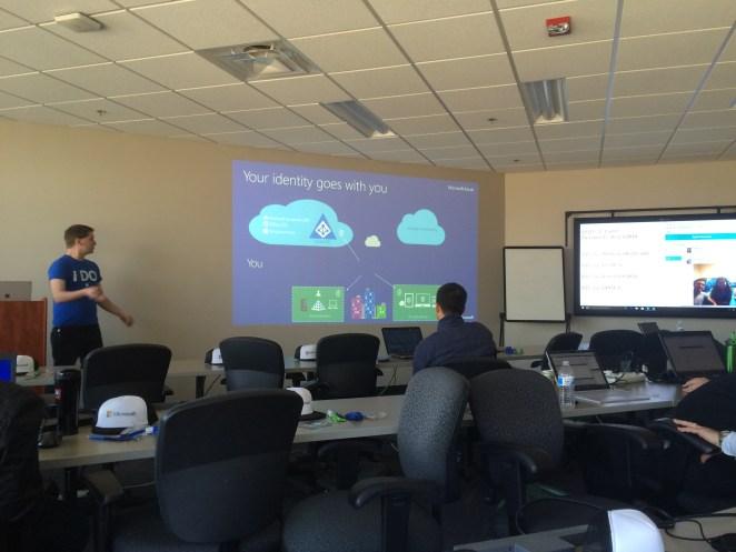 Bill Hughes presenting on Azure AD