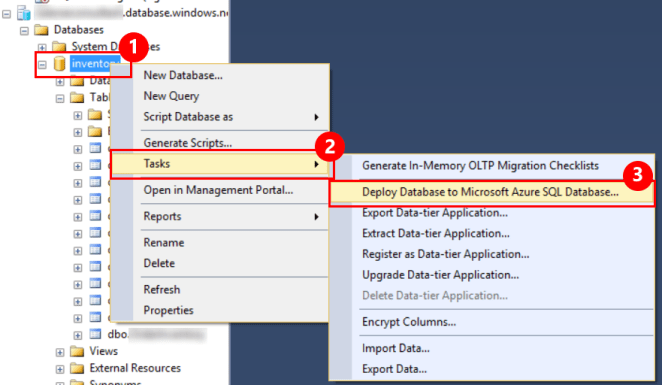 Migrate Between Azure SQL Database and SQL Server 1