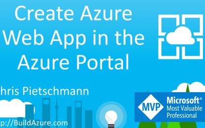 Create Azure Web App in the Azure Portal