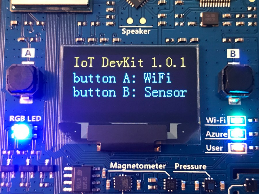 Azure IoT Developer Kit: Sensor Overview 2