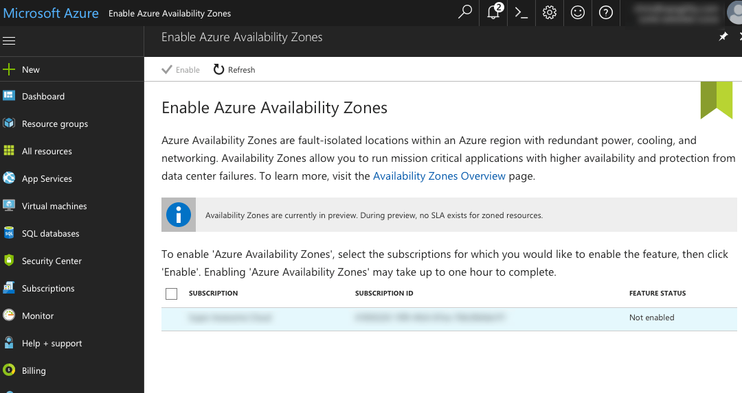 Azure Regions and Availability Zones