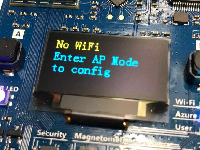 Azure IoT DevKit: Configure Wifi Connectivity – No Wifi?