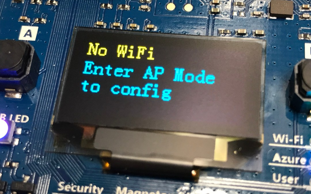 Azure IoT DevKit: Configure Wifi Connectivity – No Wifi?