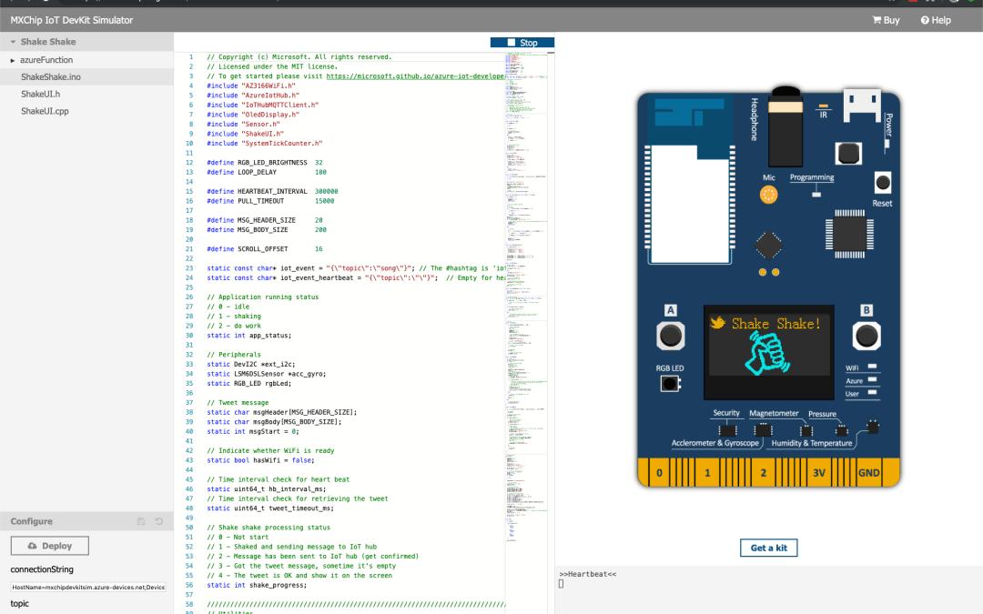 Azure IoT DevKit Simulator (MXChip AZ3166)