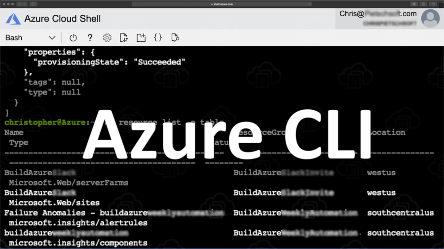 Azure Cloud Shell with Azure CLI inside Azure Portal
