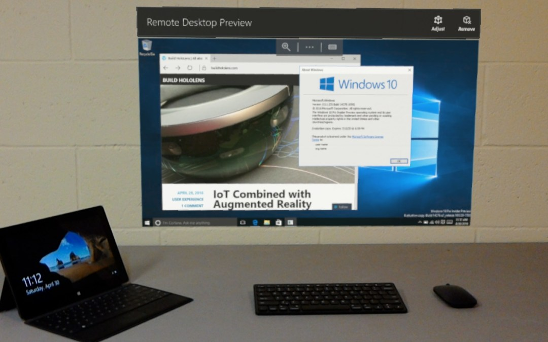 HoloLens Remote Desktop Preview UWP App