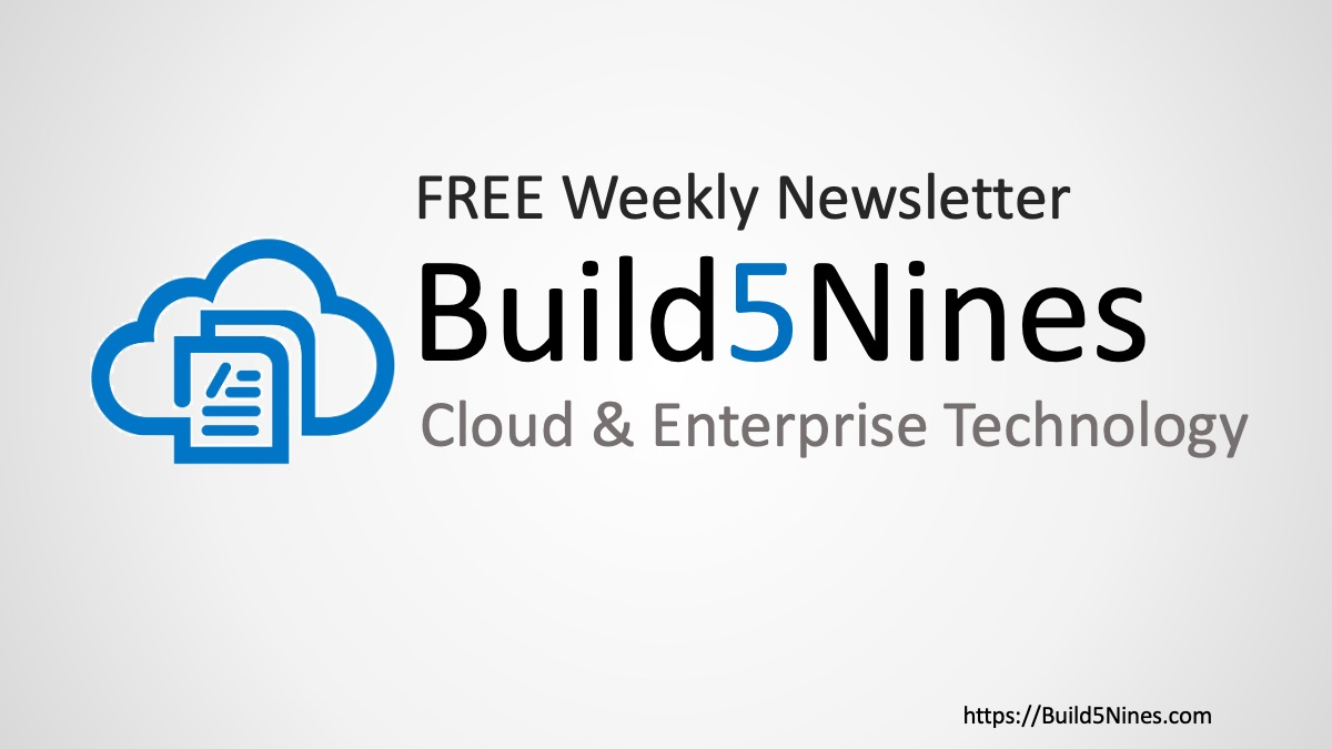 Latest Cloud News: .NET 5 Released, Apple Silicon M1 CPU, and more! (November 12, 2020  Build5Nines Weekly)