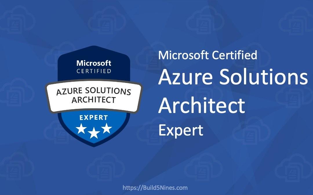AZ-304 Microsoft Azure Architect Design Certification Exam