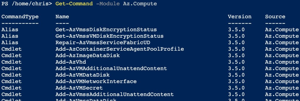 Azure PowerShell Cmdlet Naming Convention and Discoverability 1