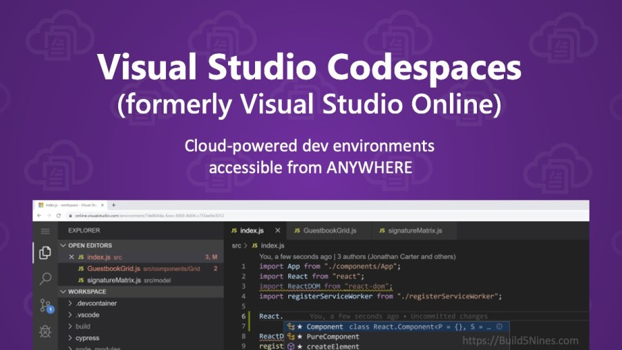 Visual Studio Online is now Visual Studio Codespaces