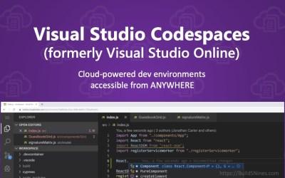 Visual Studio Online is now Visual Studio Codespaces