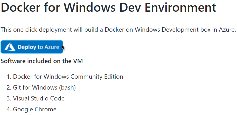 Docker development VM in Azure 2