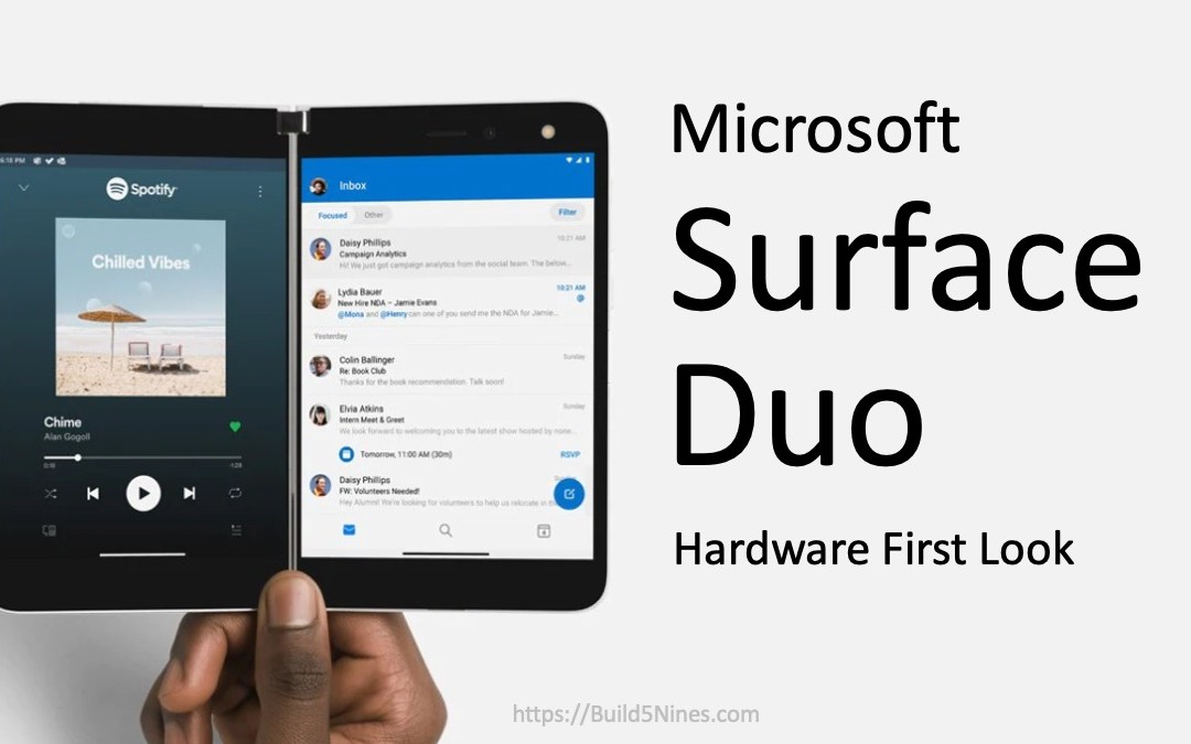 Surface Duo Hardware First Look