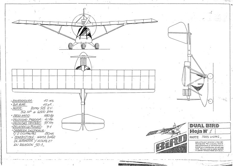 DUAL BIRD ULTRALIGHT PLANS