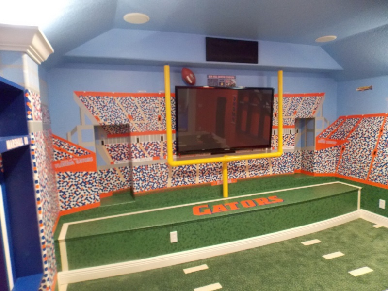Florida Gators Theme Home Theater Room  Theme Room Design