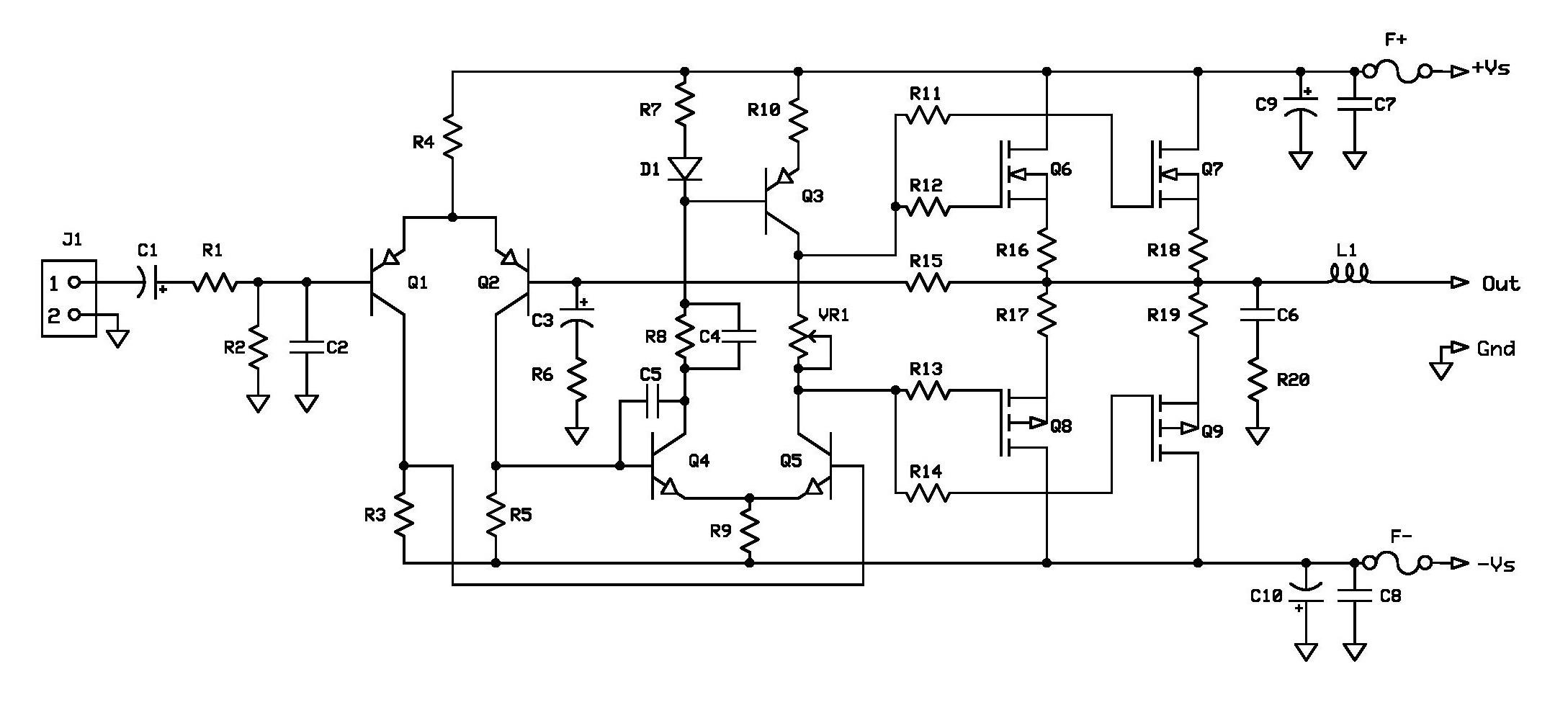 schematic diagram amplifier 100 watts
