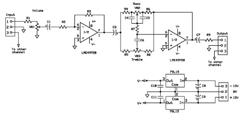 small resolution of lme49720 based tone control schematic diagram