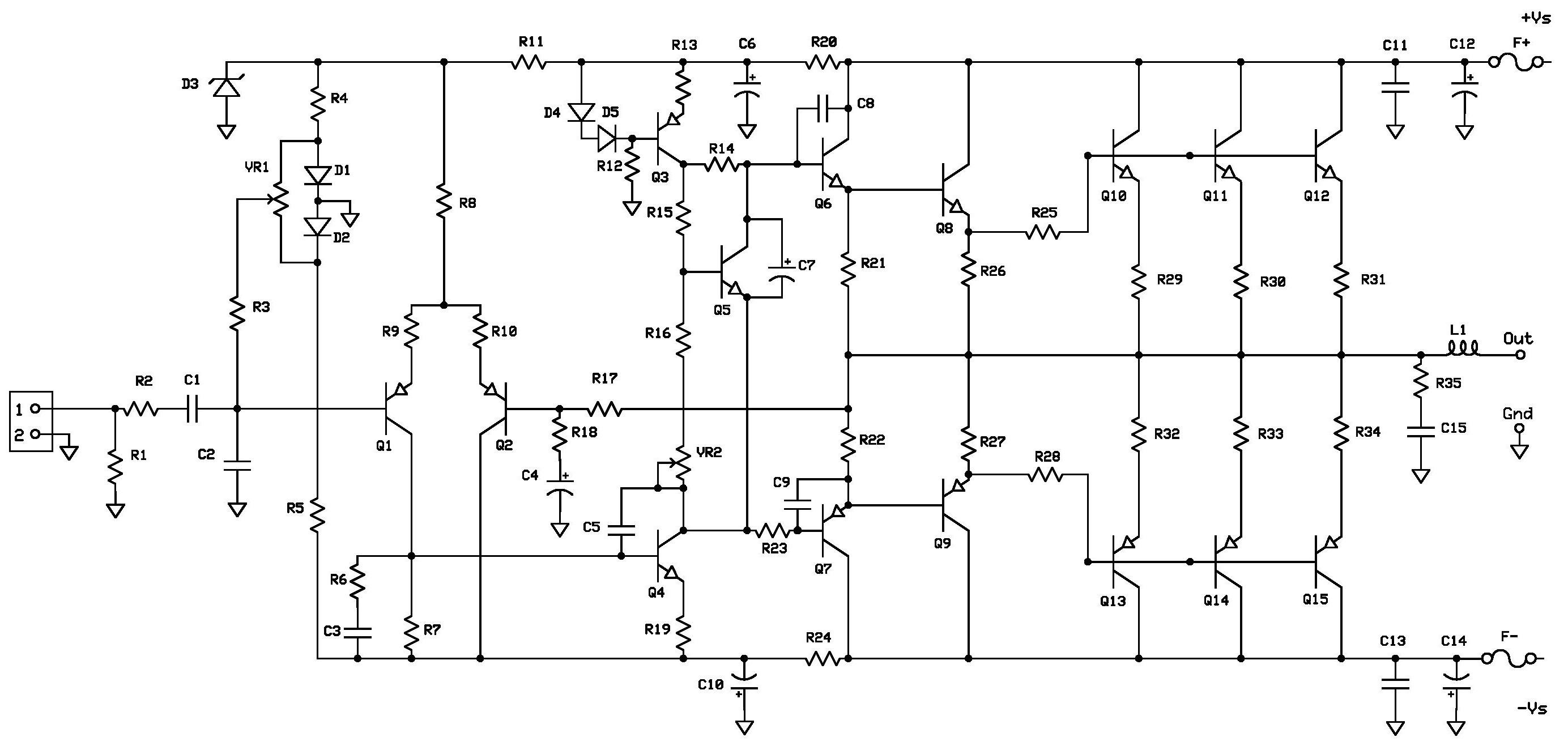 100w subwoofer amplifier circuit diagram morris minor wiring tda2030 audio schematic diagrams power get