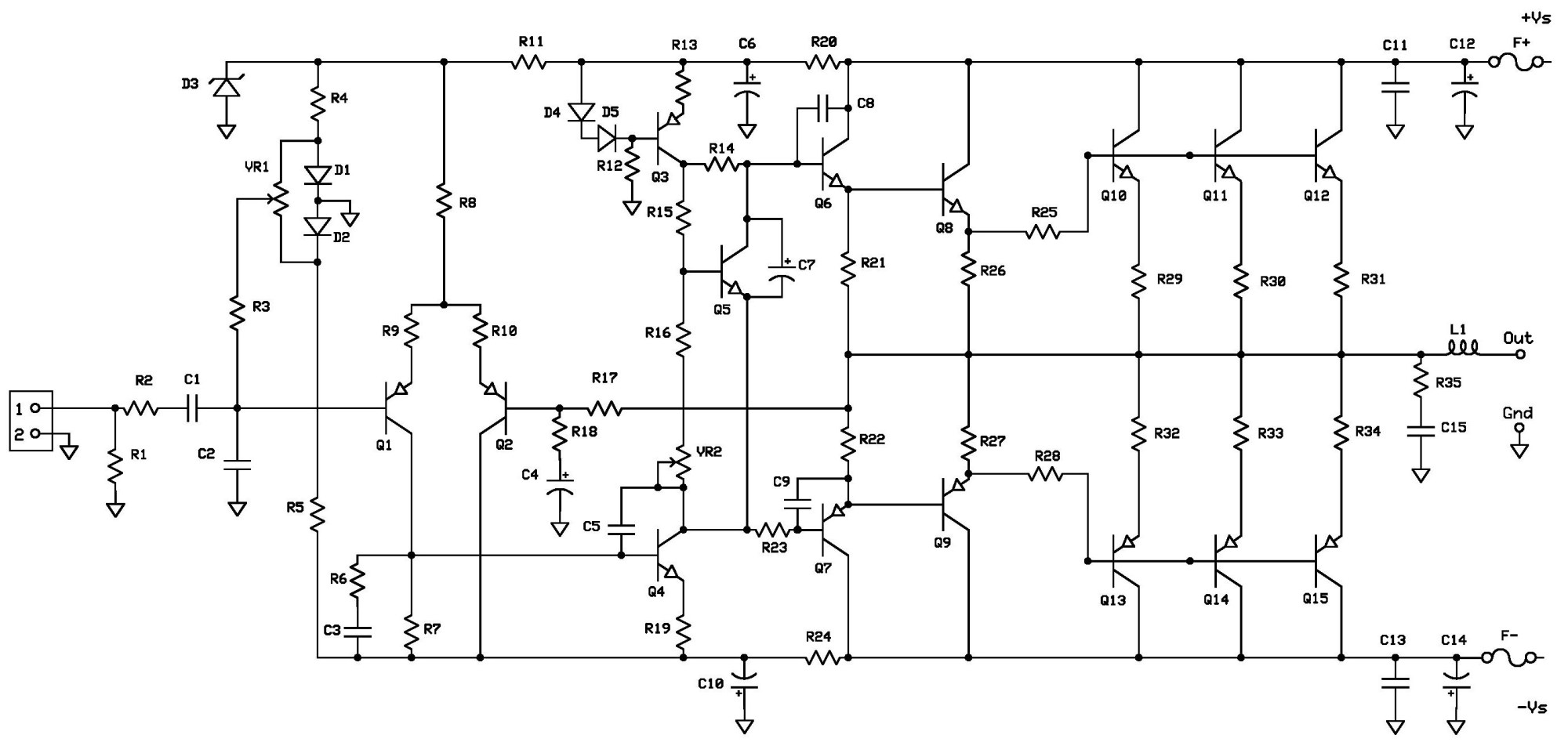 hight resolution of 2sc5200 2sa19 43 amplifier circuit project2 schematic diagram page 001 2sc5200 2sa1943 amplifier circuit