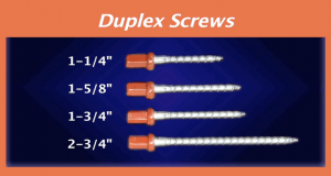 Duplex Screws Sizes