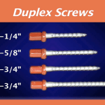 Duplex Screws Sizes